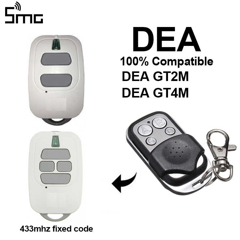 DEA GT2M GT4M 433,93mhz garage remote control DEA fixed code garage command DEA gate remote transmitter