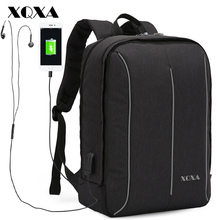 Фотография Laptop Backpack with USB Charging Port and Earphone Plug for 14-17.3 Inch Laptop for Men and Women Business School Bag Mochila