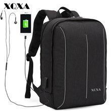 XQXA 14 15.6 17.3 Inch Laptop Backpack Men Women Travel Business Backpacks College Backpack School Bags for Teenagers Boys Girls
