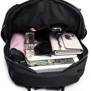 Image 5 - Yüksek Kaliteli Naylon Kadın Fermuar okul çantası Genç için Sırt Çantası Kızlar Yumuşak Saplı Taşınabilir Schoolbag Öğrenci Anti theft Sırt Çantası