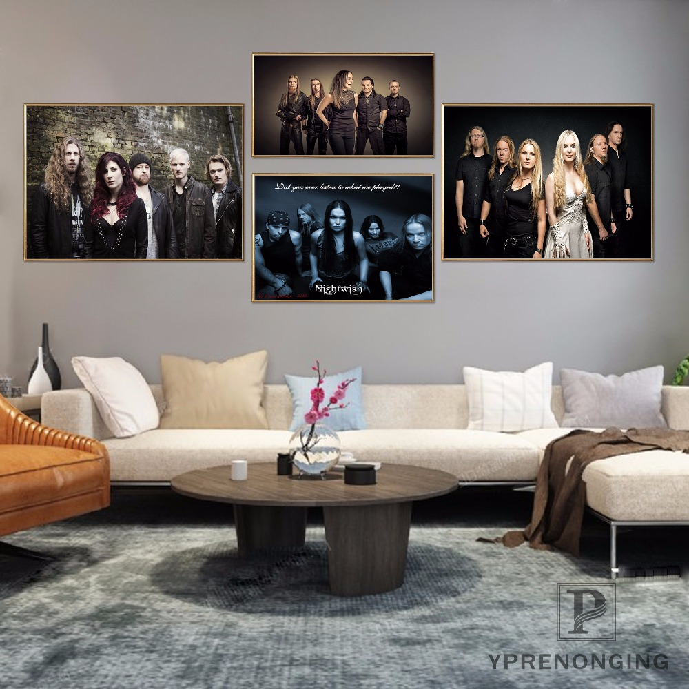 Custom Nightwish Band <font><b>Logo</b></font> Home Decor Canvas Printing Silk Fabric Print Wall <font><b>Poster</b></font> No Frame 180317@71 image