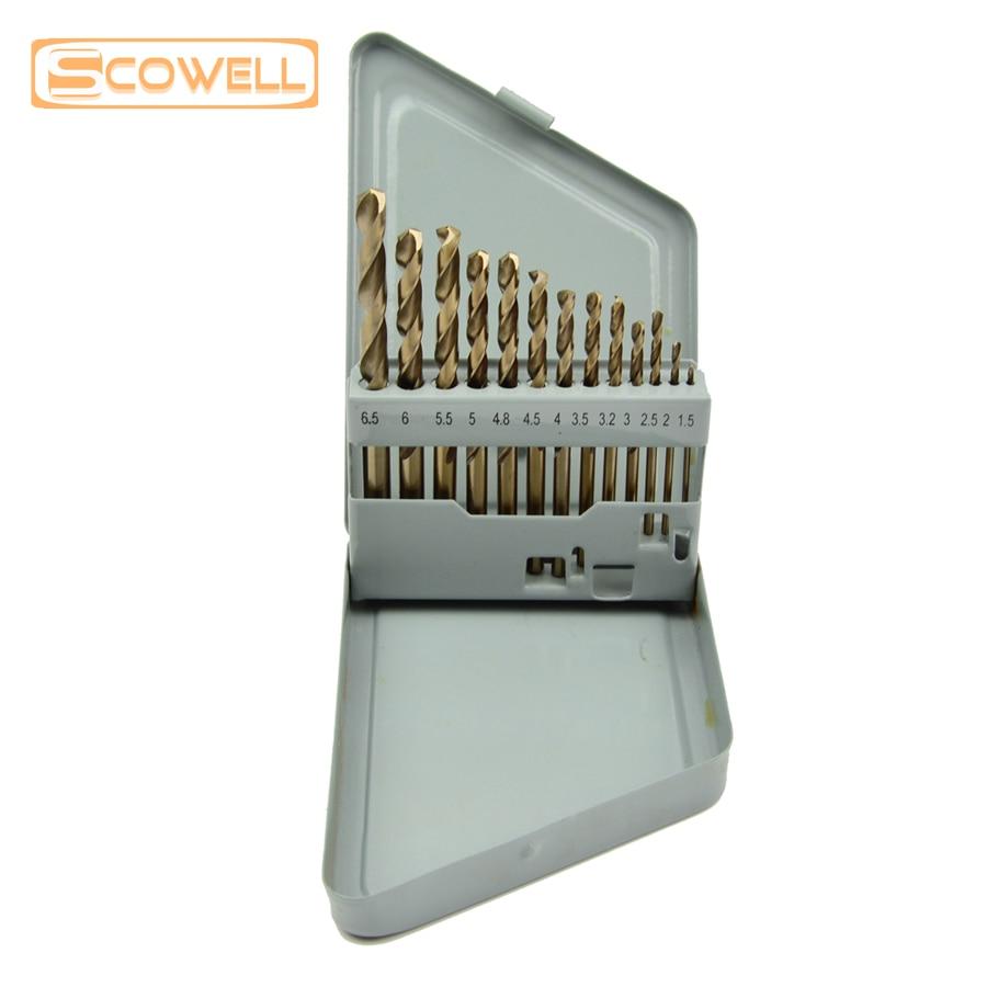 30% di sconto SCOWELL 13 PZ HCO M35 Cobalto 5% punte elicoidali Kit - Punta da trapano - Fotografia 3
