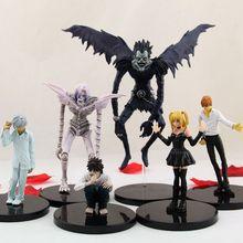 Anime 6 Buah/Set 6-24 Cm Death Note Action Figure Mainan Ryuuku Rem Amane Misa PVC Action Figure Model mainan Brinqudoes