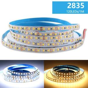 Image 2 - DC 12 V LED 스트립 빛 SMD 2835 방수 LED 스트립 AC 220V 5m 60LED 120LED 240LED 12 V 램프 테이프 유연한 테이프 리본 램프