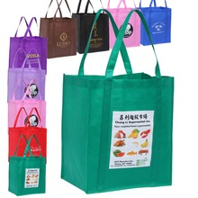 500PCS/Lot Grocery Tote Bag Customized with Own Logos Free