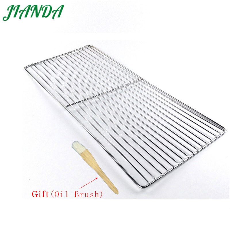 JIANDA (Send Gift)Newest 26 * 60cm BBQ Stainless Steel Grills Cooking Grill Grid Grate Barbecue Mesh Tools Outdoor Accessories