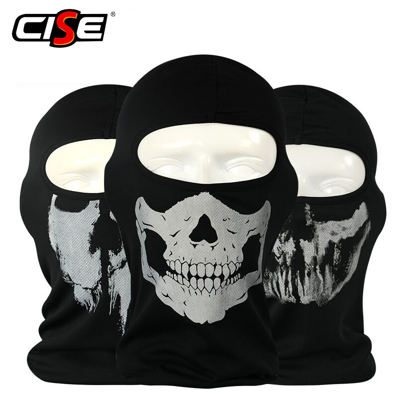 Skull Motorcycle Balaclava Full Face Mask Motor Helmet Liner Hats Ski Paintball Tactical Snowboard Biker Riding Hood Face Shield bicycle ski motor bandana motorcycle face mask skull for motorcycle riding scarf women men scarves scary windproof face shield