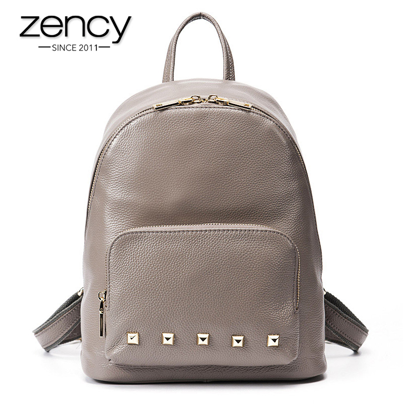 3Cls Spuer American Designer Genuine Leather Rivet Backpack Women Brand Girl School Book Bag Ladies Laptop Travel Female Mochila ручки benu 11 3 26 1 0 n cls
