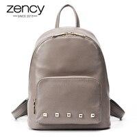 3Cls Spuer American Designer Genuine Leather Rivet Backpack Women Brand Girl School Book Bag Ladies Laptop