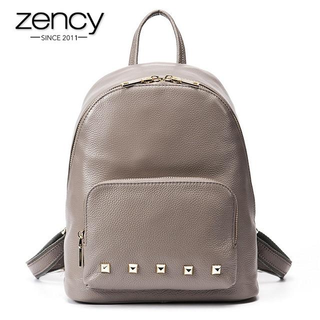 3Cls spuer американский дизайнер натуральная кожа заклепки рюкзак женщины бренд девушка школа книга ноутбук сумка женская Путешествия Женский Mochila