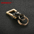 Brands HONEST  High-grade leather + alloy men keychain bag pendant  Leisure car key chain ring holder jewelry llavero bcys-045
