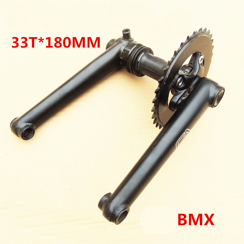 FA 180 mm 34 mm high strength hollow BB with bearings 33T bmx crank chain wheel