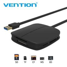 Vention SD Card Reader Все в 1 USB 3.0 Micro SD TF Multi чтения карт памяти Поддержка 256 ГБ для macbook Ноутбук
