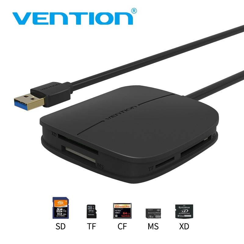 Vention SD todo en uno USB 3.0 50 cm Micro SD TF lector de tarjetas de memoria soporte 256 GB para MacBook ordenador portátil