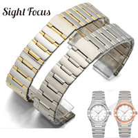 16mm 23mm Notch End Stainless Steel Replacement Strap for Omega Constellation Metal Watch Bands Bracelets Belts Brand Accessorie