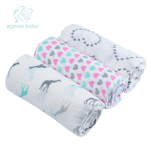 EGMAO Baby Frosted Bagged Muslin Baby Blanket Swaddle Wrap Newborn Infant 100% C