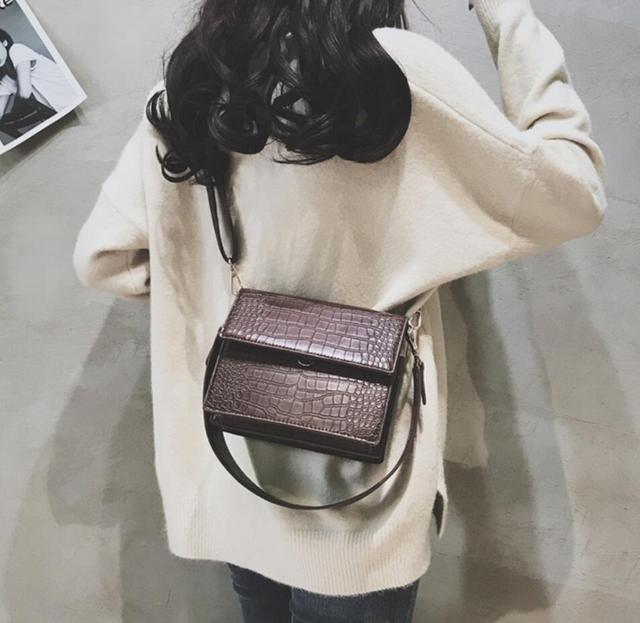 Women's Designer Luxury Handbag 2020 Fashion New High quality PU Leather Women Handbags Crocodile pattern Shoulder Messenger Bag 2