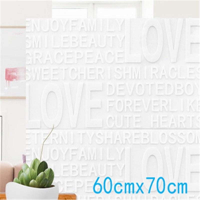 3D Wallpaper Cartoon Words( Love )Brick Wall Stickers Living Room Decor Foam Wall Covering Wallpaper For TV Background Kids Room