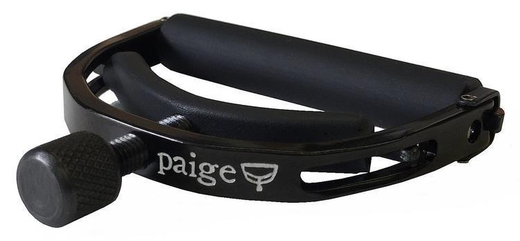 Paige P-6E-Z 6-string Electric Guitar Capo - Black, Extreme Strings Bending alloy classical guitar capo black silver
