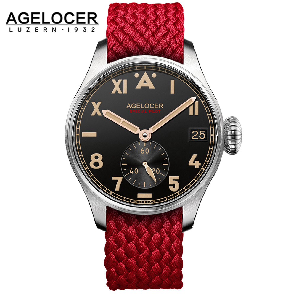 relogio masculino Swiss AGELOCER Automatic Watches Men Luminous Mechanical Watch Mens Clock Leather Strap 100m Water Resistance forsining automatic tourbillon men watch roman numerals with diamonds mechanical watches relogio automatico masculino mens clock