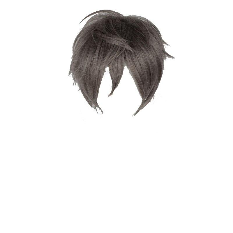 Mcoser 30CM Short Dark Grey Color Synthetic Cosplay Wigs 100% High Temperature Fiber WIG-622G