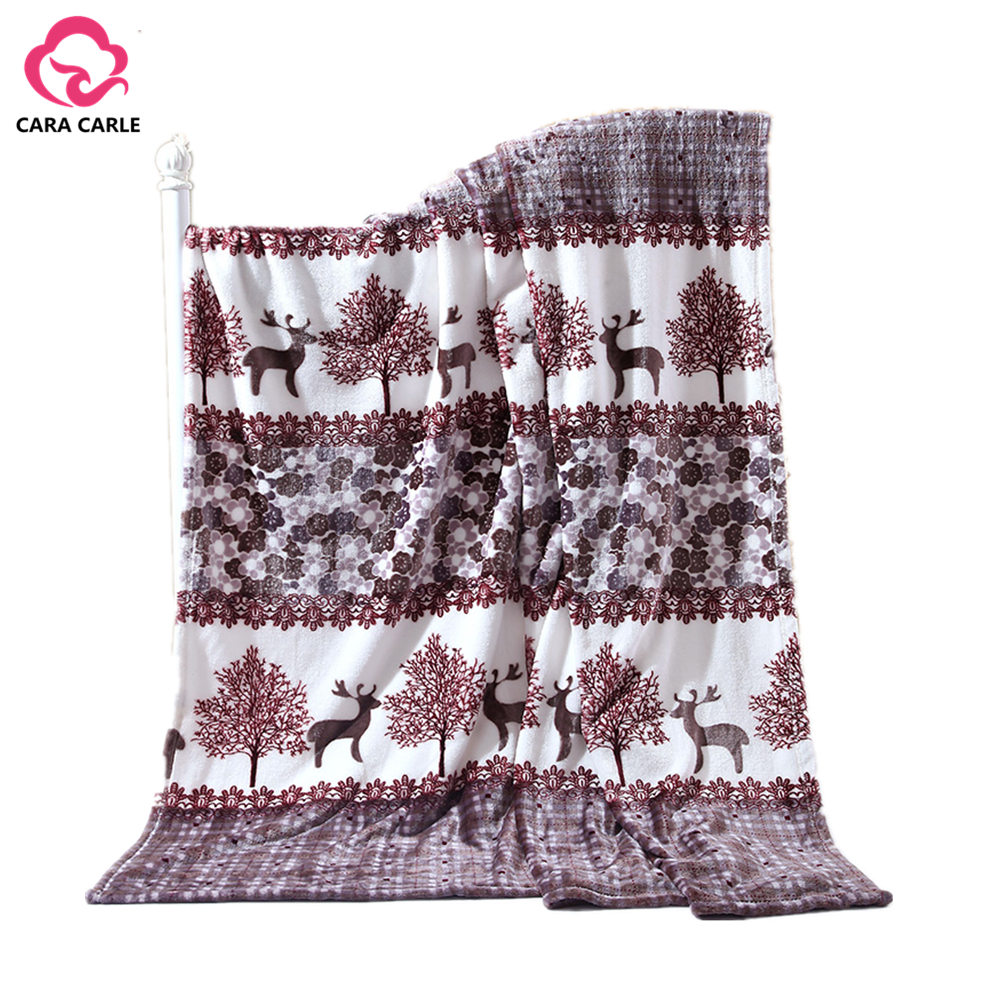 Travel Winter Blanket High Quality Throw Blanket Sleeping  Bed Cobertor From