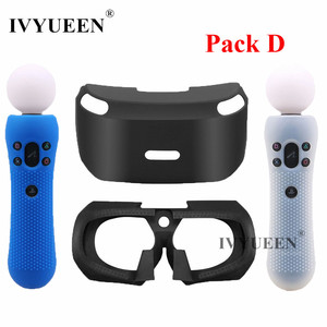 Image 2 - IVYUEEN Silicone Cover for Sony PlayStation VR Glasses Protective Headset Silicone Case with PSVR Move Motion Controller Skin