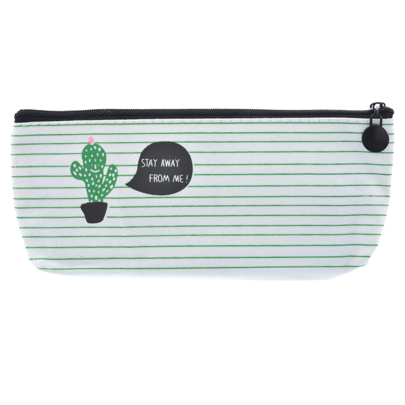 NIBESSER Kawaii Bag Cute Cactus Printed Coin Purse Women Zipper Portable Bag For Pen Pencil Money Pouch Lovely Purse For Girls