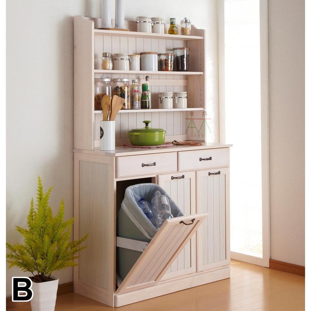 Japanese Style Wooden Sideboard Solid Wood Kitchen Cupboard Lockers Wine  Storage Cabinets Tea Cabinet