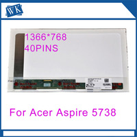 15.6 laptop matrix screen For Acer Aspire 5536 5738 5738Z 5740 5741 5741G 5742 5742G 5750 5750G LCD Replacement Display