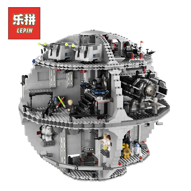 IN STOCK LEPIN 05035 3803pcs Genuine Star Wars Death Star Educational Building Block Bricks Toys Kits Compatible with J35000 lepin 05037 star wars ucs slave i slave no 1 model 2067pcs minifigure building block toys 100