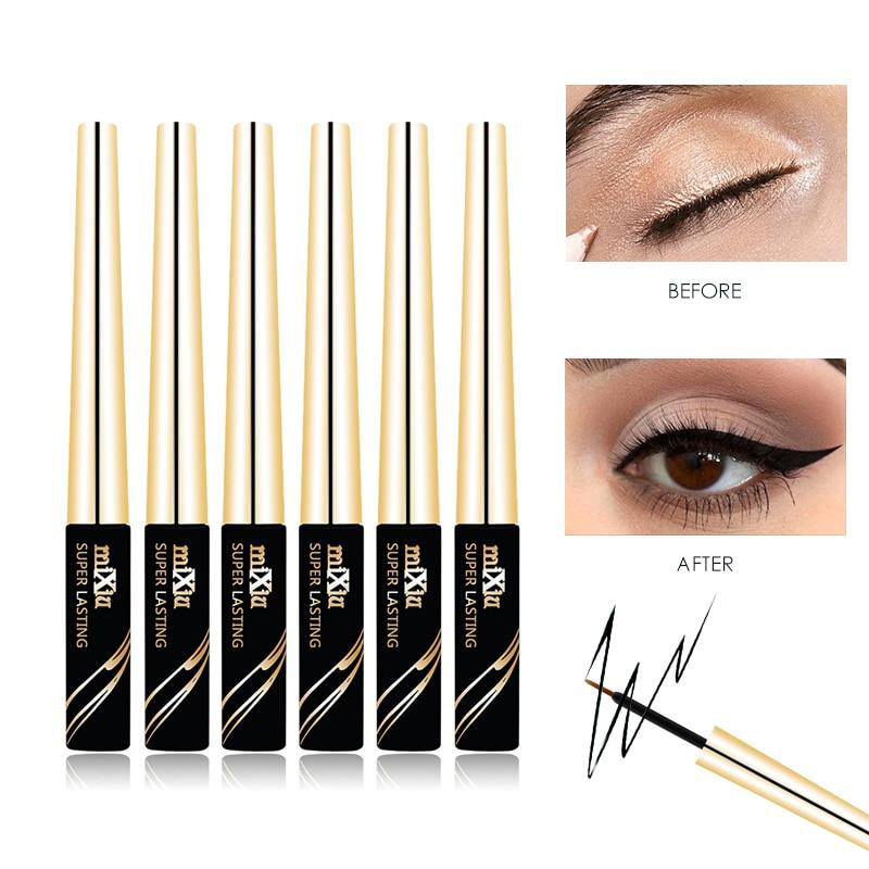 MIXIU 6ML svart flytande eyeliner vattentät flytande ögonfärg penna kosmetika långvarig matt eyeliners professionell smink