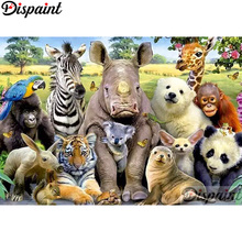 Dispaint Full Square/Round Drill 5D DIY Diamond Painting Animal tiger zebra3D Embroidery Cross Stitch Home Decor Gift A12174 dispaint full square round drill 5d diy diamond painting animal tiger sceneryembroidery cross stitch 3d home decor gift a11463