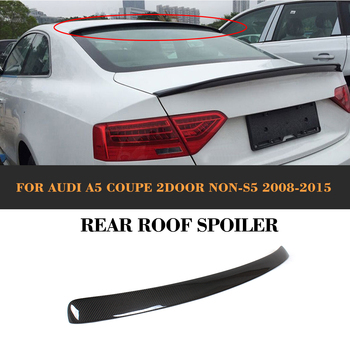 Carbon Fiber Rear Roof Spoiler wing for Audi A5 2 Door 2008 2009 2010 2011 2012 2013 PU Unpainted Grey