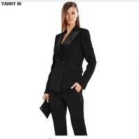 Для женщин Вечерние брюки костюмы осень бизнес формальный элегантный Для женщин костюм комплект Штаны офисные женские костюмы штаны костю