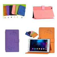 Ultra Slim Folio Stand Protective Print Flower PU Leather Case Cover For Lenovo Tab3 8 0