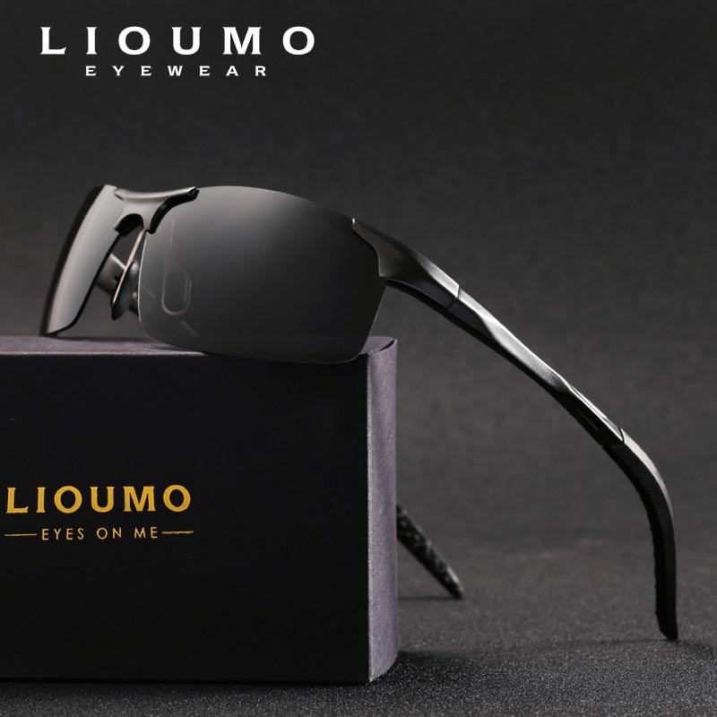 LIOUMO Marca HD Polarizzati Sunglasse Uomini Classici Occhiali Da Sole HD di  Guida Accessori Per la Pesca di Notte Driver Occhiali Oculos de sol in  LIOUMO ... 4c89a08bd2