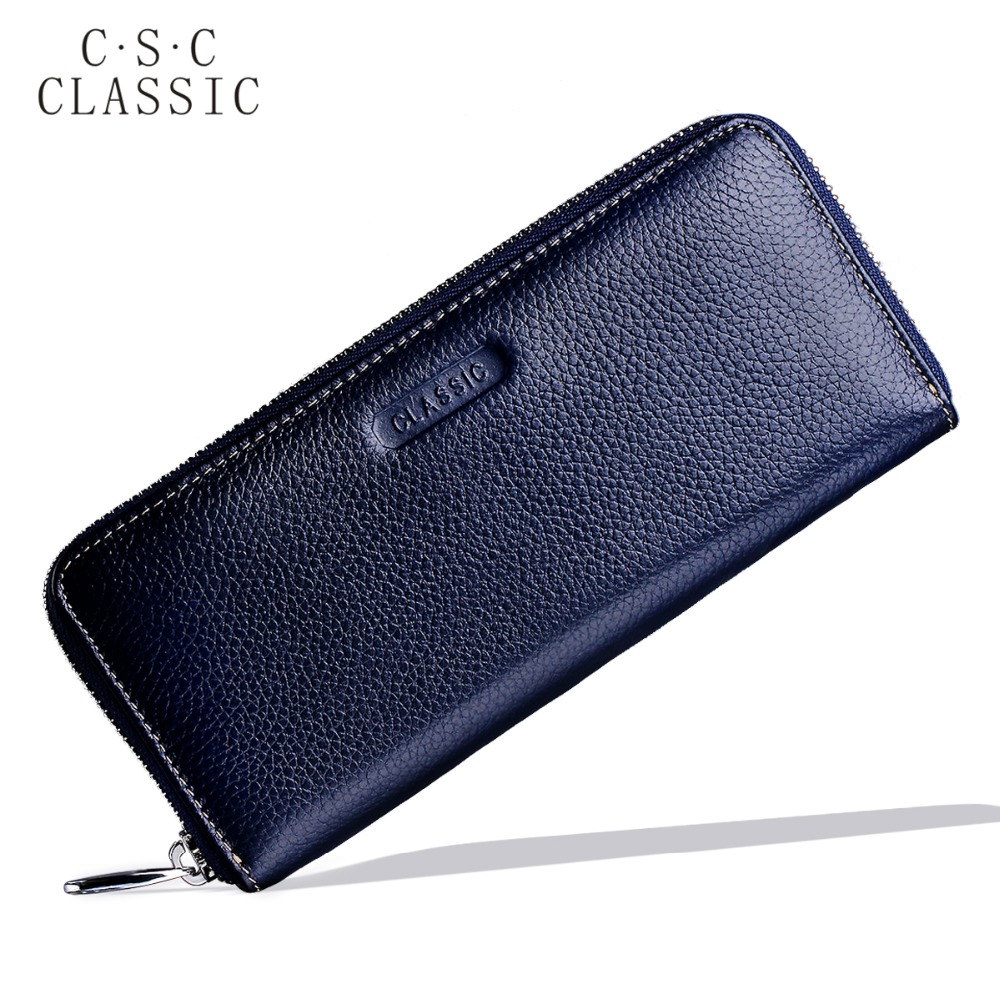 Long Wallet Womens Blue Real Genuine Leather Zipper Wallets Women Clutches Female Ladies Purse for Coins Phone Card Holder bag sammons brand new design fashion genuine cow real leather men long zipper clutches cards phone holder wallet