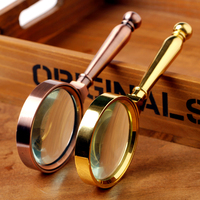 High quality Metal handheld reading magnifier loupe optical magnifying glass to repair watch Jewelry Loupe herramientas