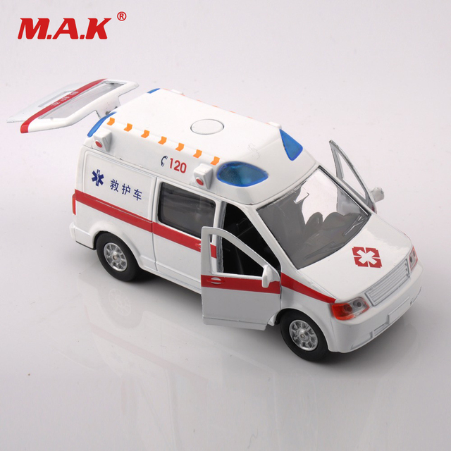 Cheap Kids Toys Gifts 1:32 Scale Alloy Diecast Car Model Toys Ambulance Medical Vehicles
