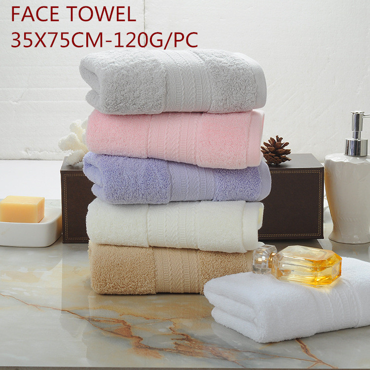 Made in China Pure Cotton Towels Retail Adult Towels Six Colors Optional Soft Super Absorbent Bathroom Towels