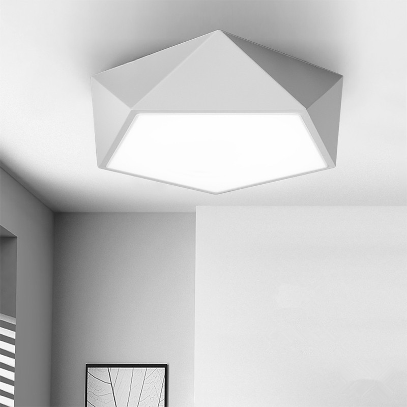 Nordic Ceiling Lamp Geometry dome light LED luminaria For kitchen luminaria Home Lighting Aisle lamp Ceiling Light Fixtures