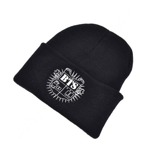 KPOP GOT7 BTS Bangtan Boys Same Style Fan Made Hip Hop Black Knitted Hat Warm Beanies Cap bigbang10 bigbang made program book 136 pages photobook kpop