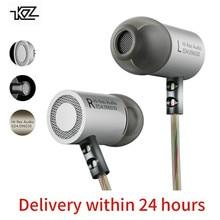 KZ ED4 бас-наушники ухо Hi-Fi гарнитура диджейский наушник металла стерео наушники с микрофоном для мобильного телефона MP3 MP4 в ухо monitor