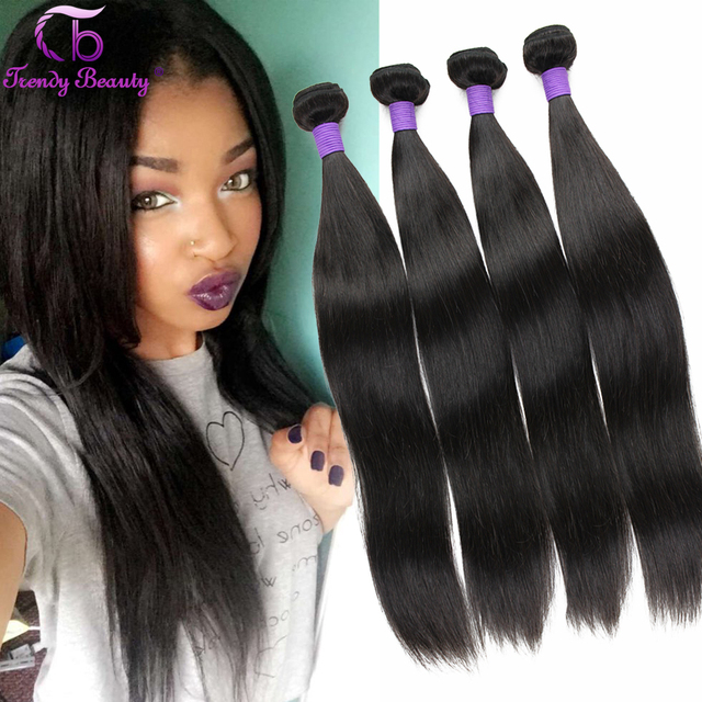 7a Quality Braiding Hair Brands Straight Virgin Weaves Bundle Deals