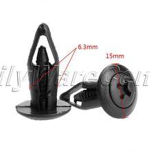 50Pcs Fit 6.3mm Hole Dia Plastic Rivets Car Door Trim Panel Retainer Clip for Ford Auto Bumper Fender Black Fastener Styling