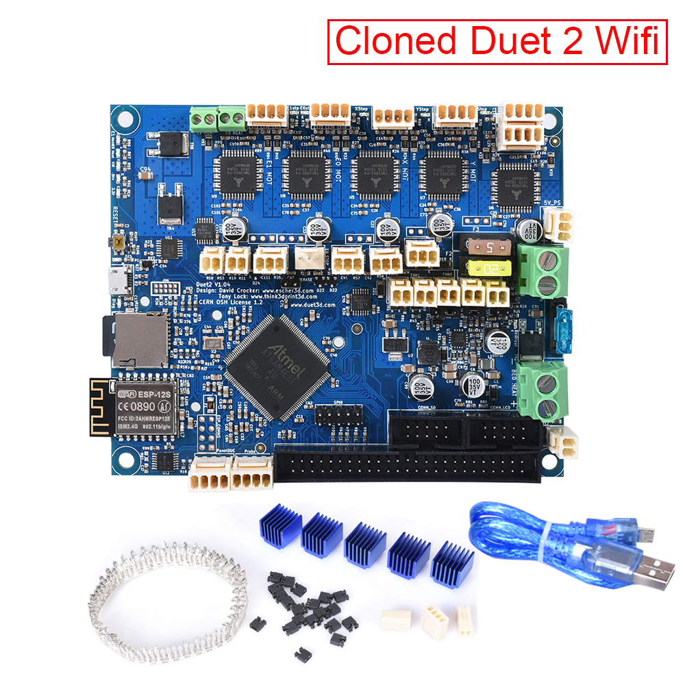 3D Printer Parts Duet 2 Wifi V1.04 Control Board Cloned Duetwifi 32Bit Compatible PanelDue Touch Screen 3D Printer CNC SKR V1.3