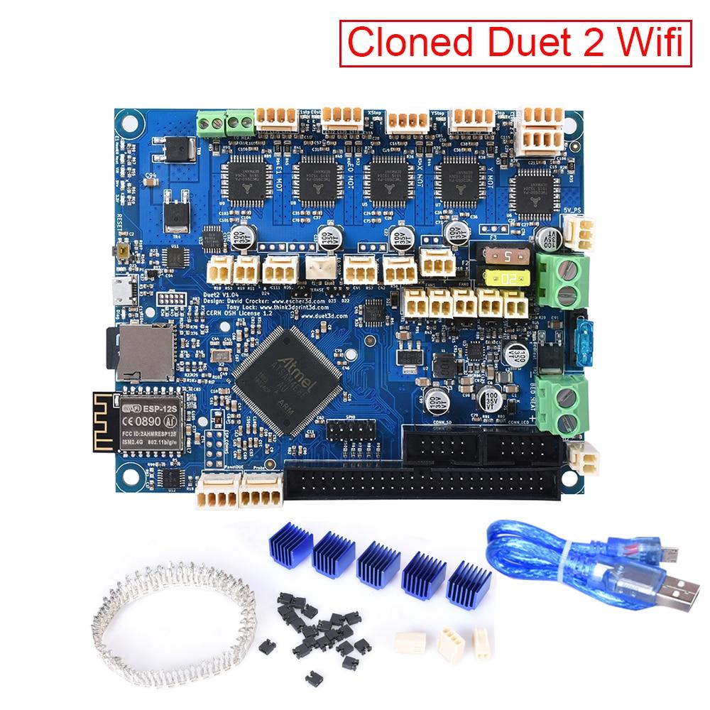 Peças de Impressora 3D Dueto 2 Wi-fi Placa de Controle V1.04 Clonado Duetwifi PanelDue 32Bit Compatível Touch Screen 3D CNC Impressora SKR v1.3