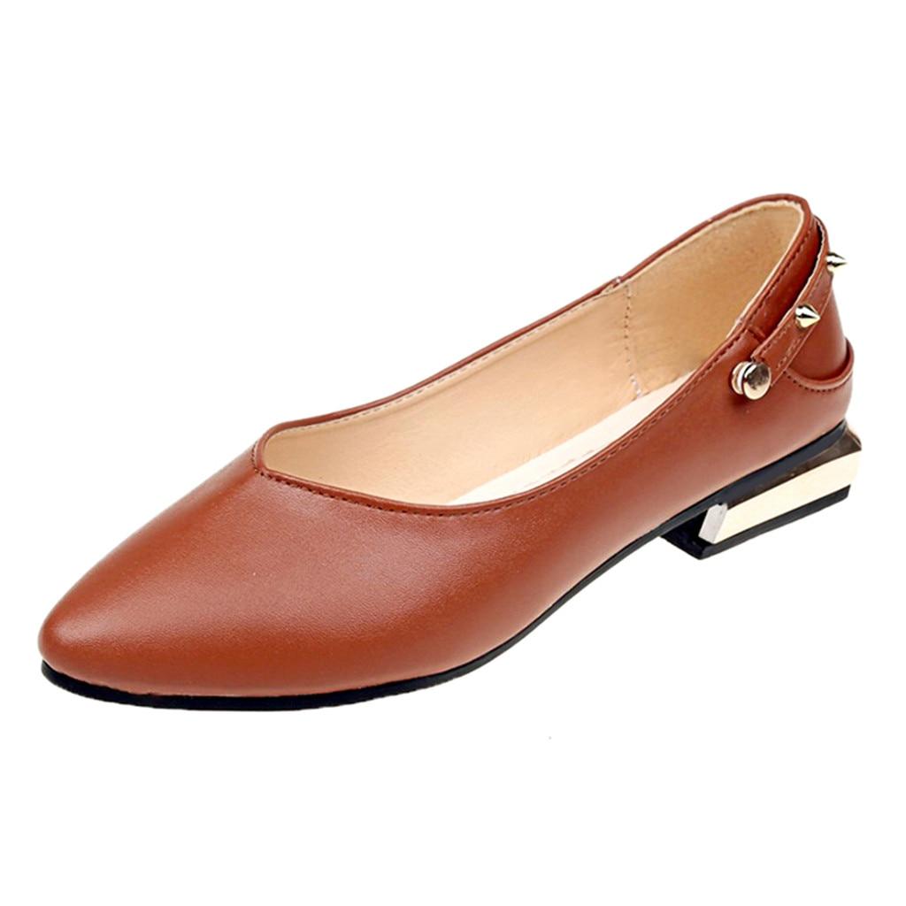 Beige Talon 18 Chaussures 7 Couleur De Pu Faible Soild Sagace Rivet black brown Sandales Cheville Courroie D'été Occasionnels Avec Femmes Pompe Dec Vintage Simples Pompes xqqZwY1HB