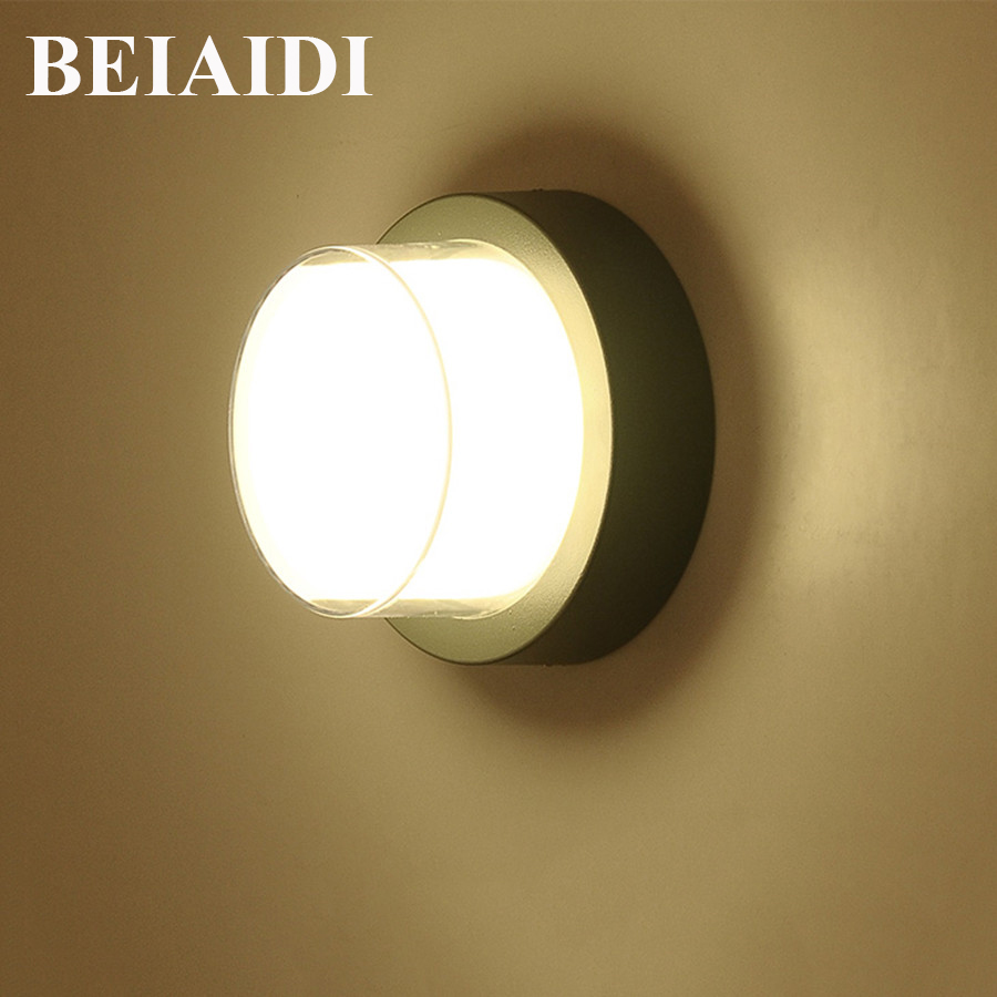 BEIAIDI 10W Modern LED Wall Lamp Waterproof Corridor Aisle Hotel Porch Light Outdoor Villa Balcony Garden Fence Wall Sconces beiaidi ip54 10w waterproof led wall lamp outdoor led porch lights modern villa patio fence garden balcony gateway wall lights